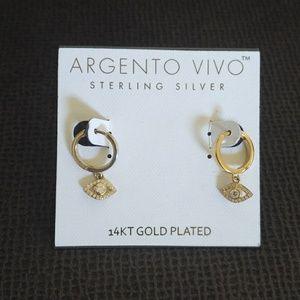 Argento Vivo Evil😈 Eye👁️ Huggie🤗 Earrings NWT